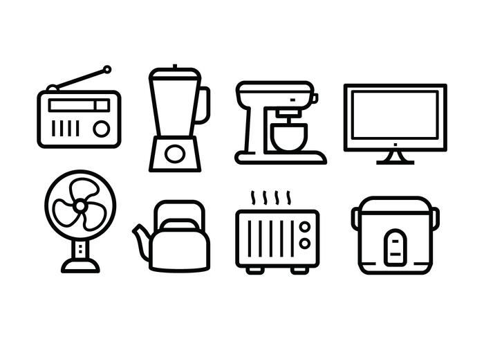 vector-free-home-appliances-icon-set